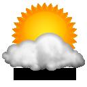 Sol com muitas nuvens durante o dia e per�odos de c�u nublado. Noite com muitas nuvens.